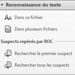 menu Reconnaissance de caractères